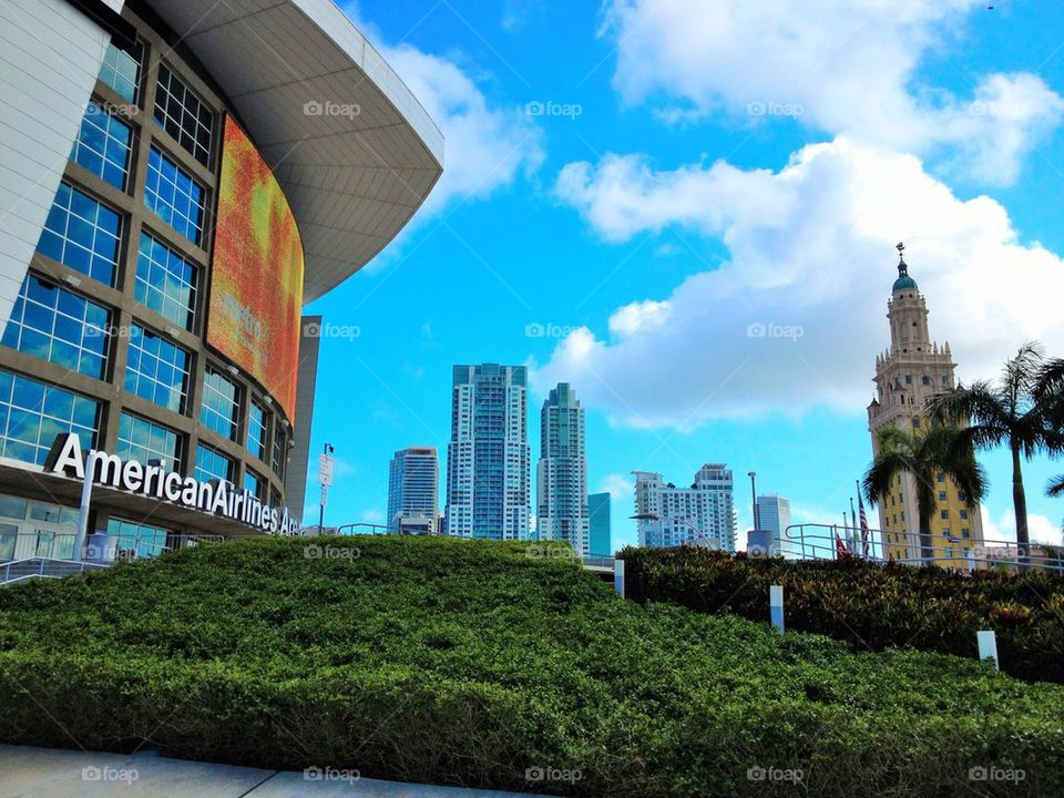 Down Town Miami From AA Arena