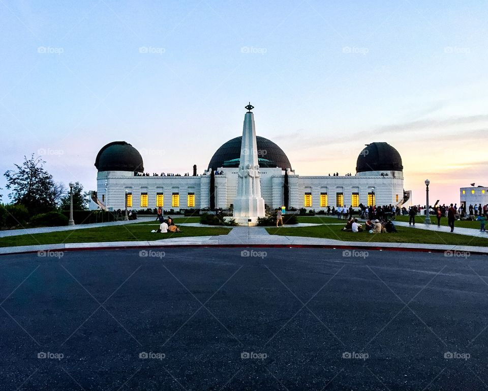 Griffith. The Griffith observatory during spring equinox