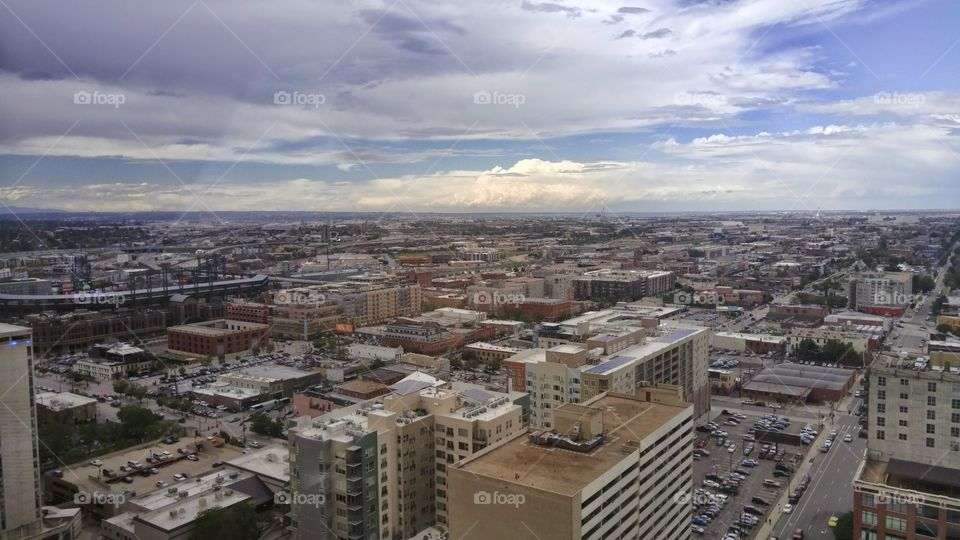 Just a day in Denver. It had just rainned. The clouds parted and there was this..