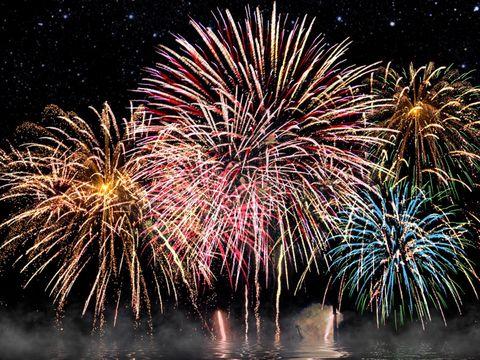 Fireworks display. Fireworks display