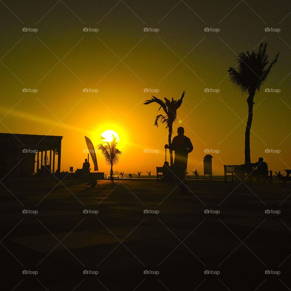 Sunset. Kite beach Dubai