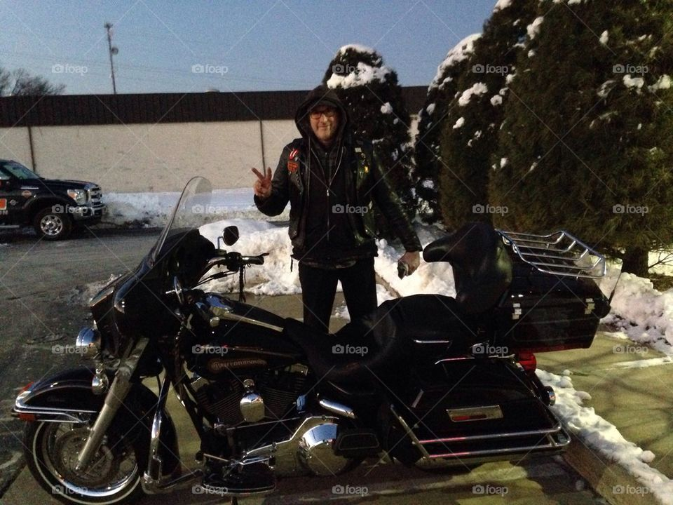 Motorcycle winter snow