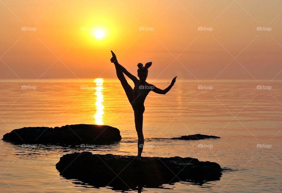 sunset dance. Hawaii