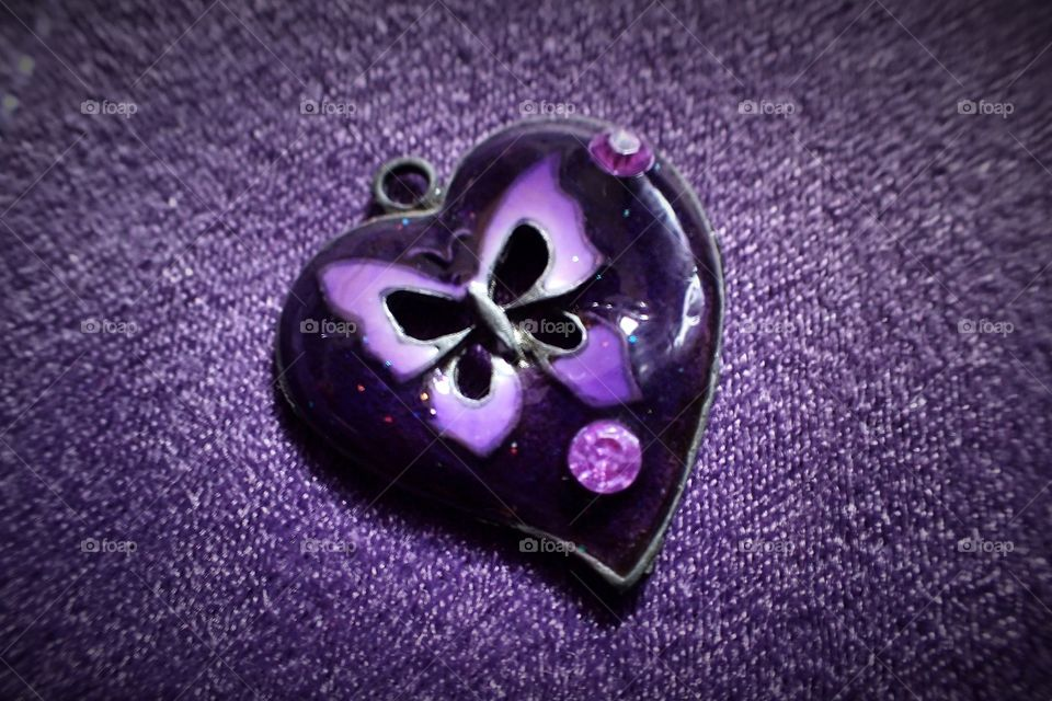 Close-up of heart shape pendant
