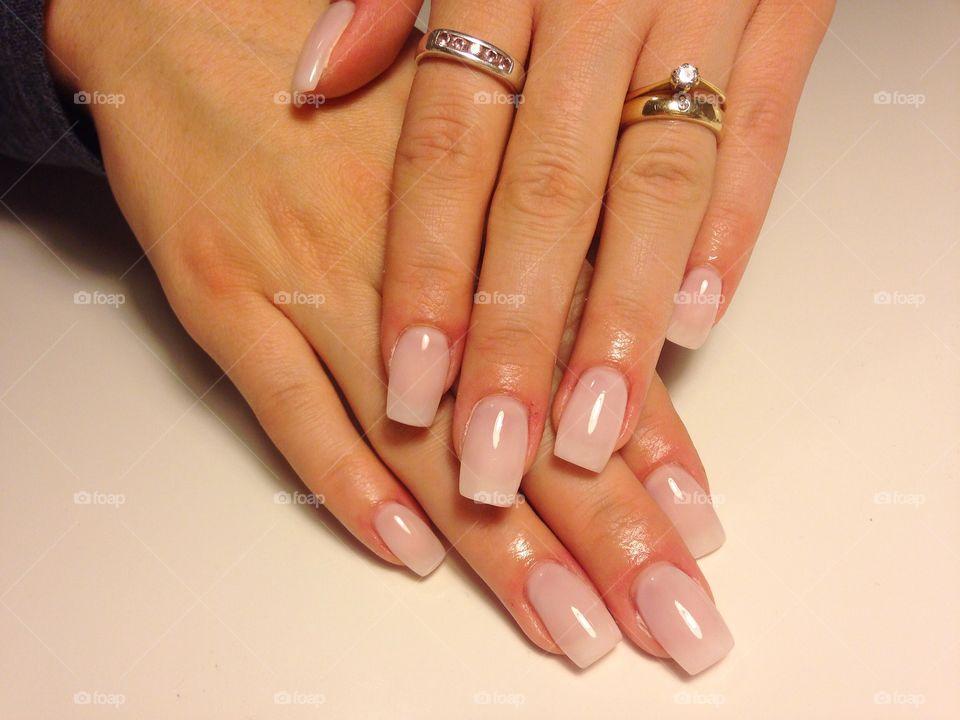 A woman needs a nice manicure