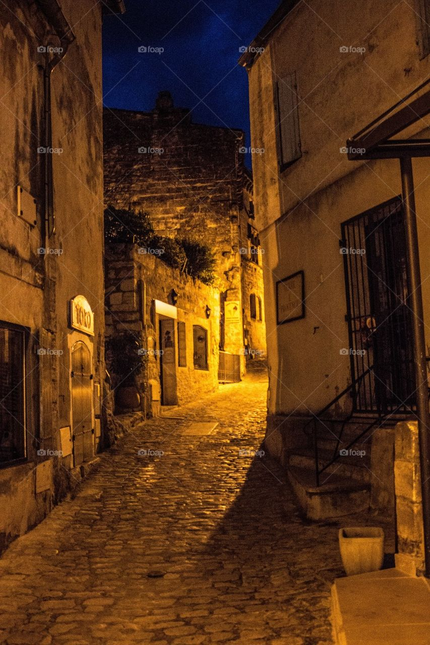 Les Baux at Night