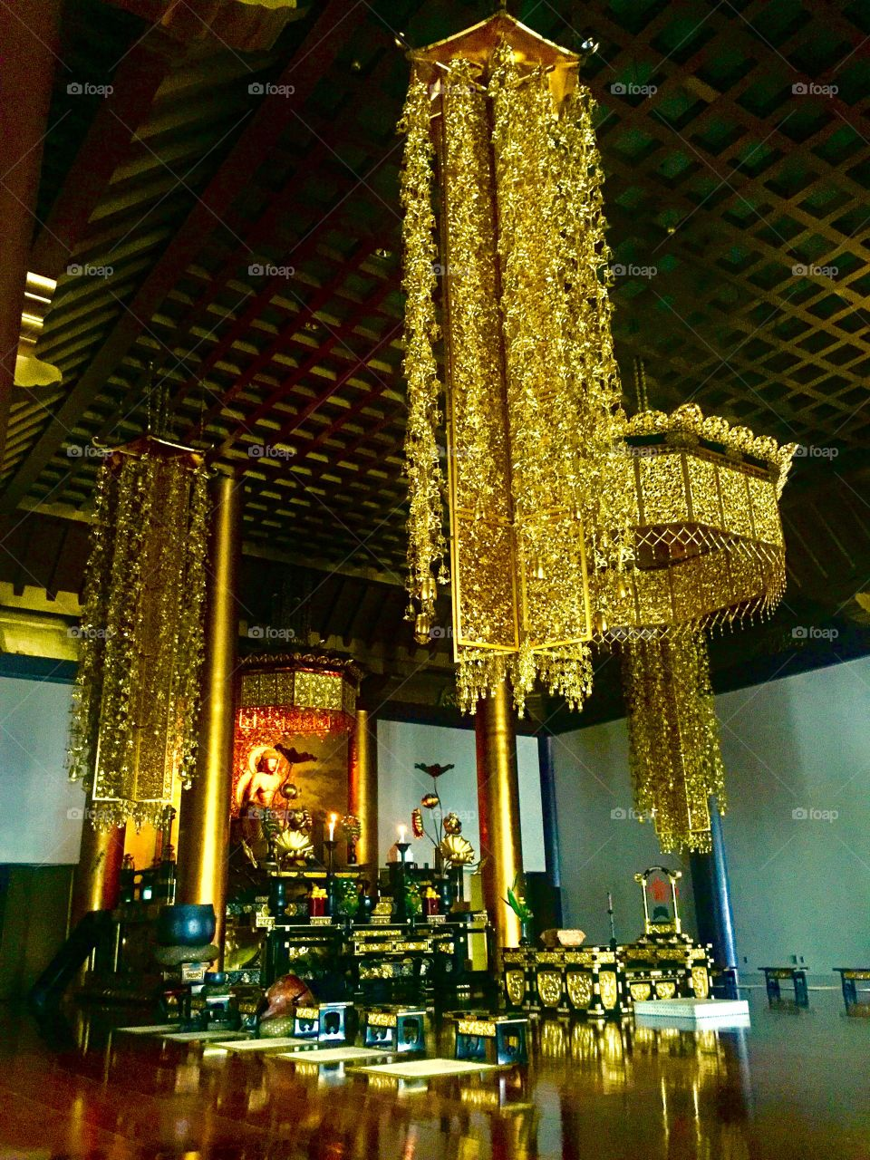 Then Their was Gold.  Inside the Temple of Jodo.  Tokyo, Japan