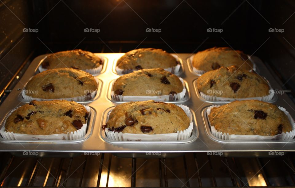 Homemade banana chocolate chip petite breads