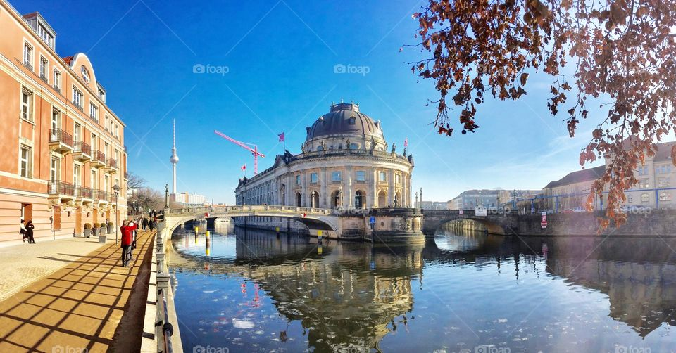 View of bode museum at day