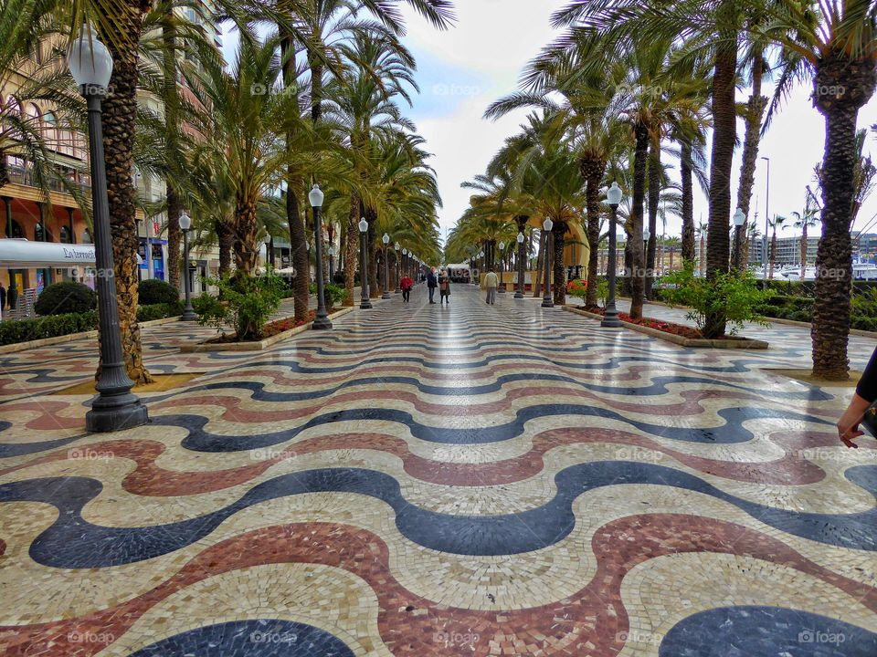 View of a promenade, spain