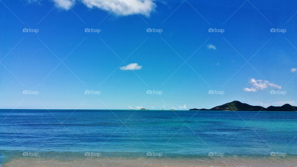 how i would love to wake up to this beach and island..Antqua..This is the view of the island Montserrat