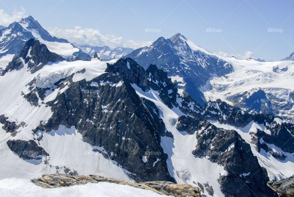 Mountains in winter, Switzerland