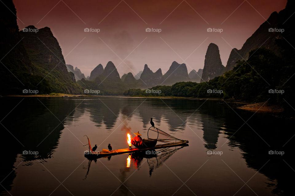 Cormorant fisherman at the Li river
