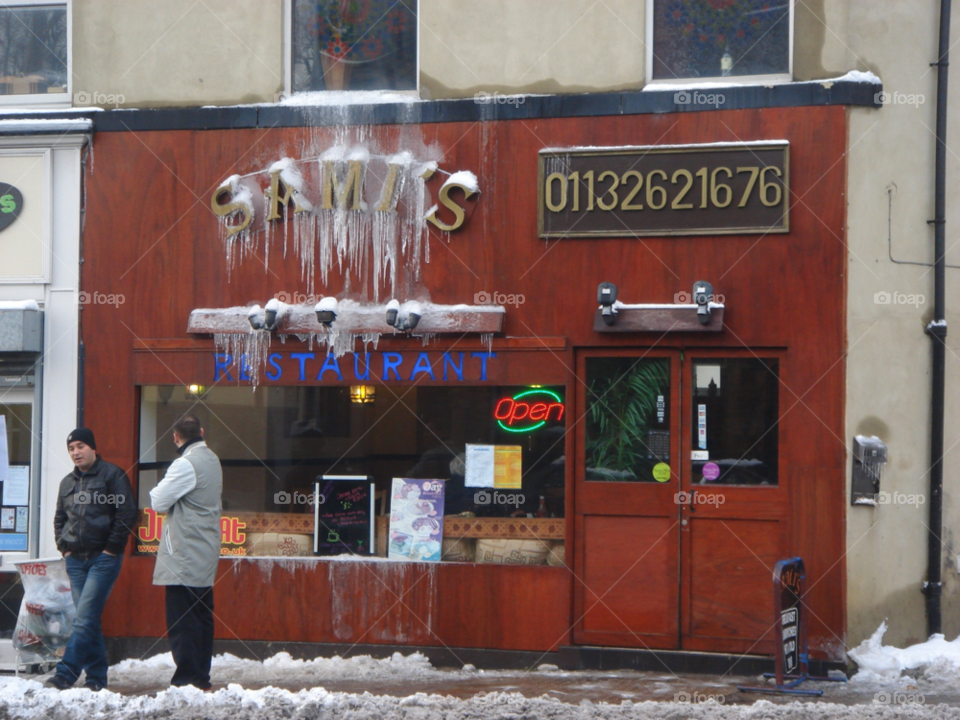 winter england restaurant road by Bea