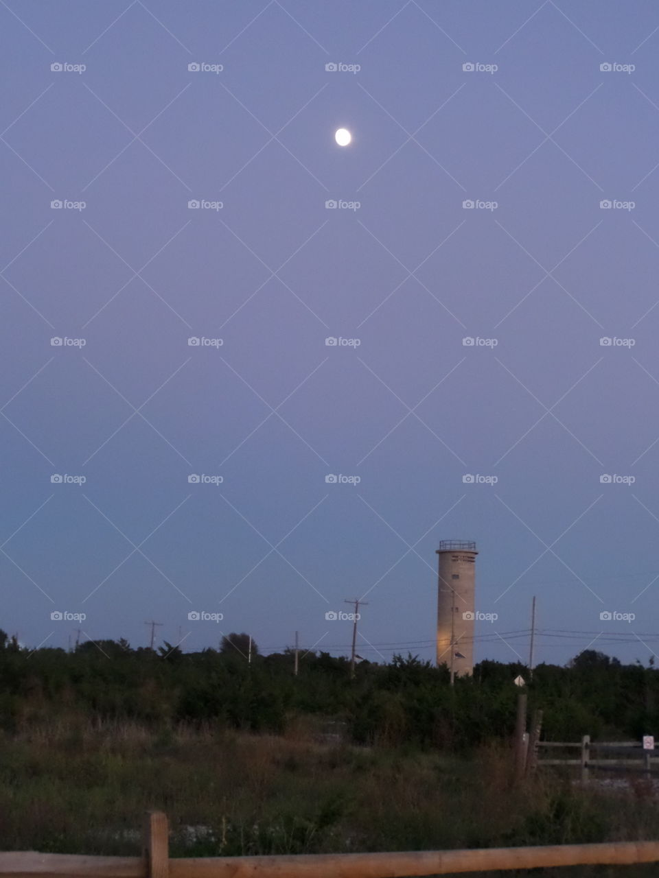 Moon over Cape May tower