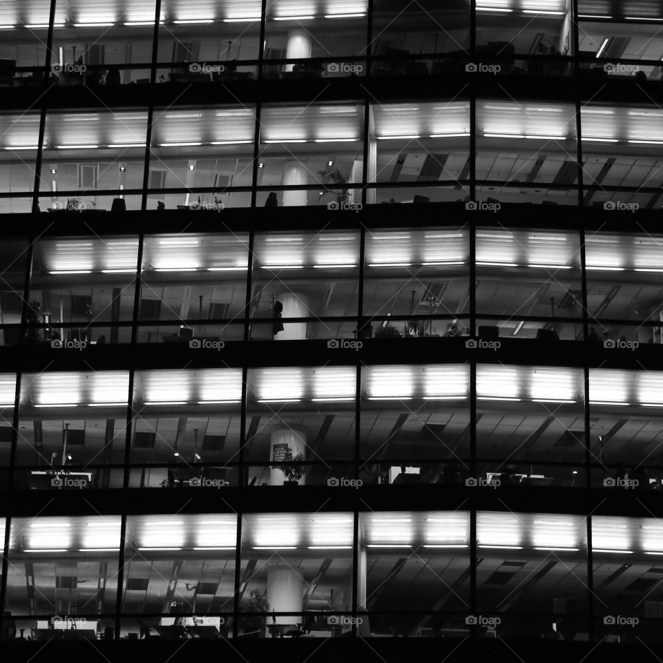 Office building in monochrome