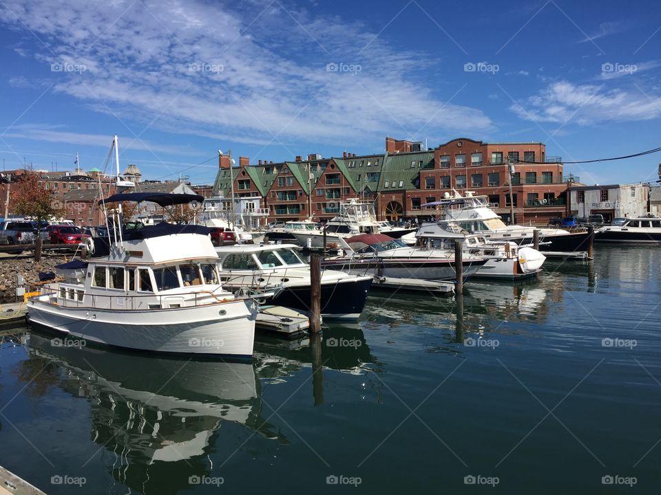 Boats in Portland harbor