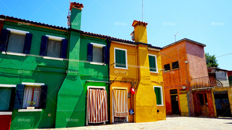 Colorful building in Burano, Italy