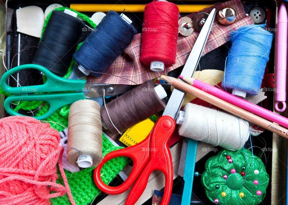 Sewing tool basket