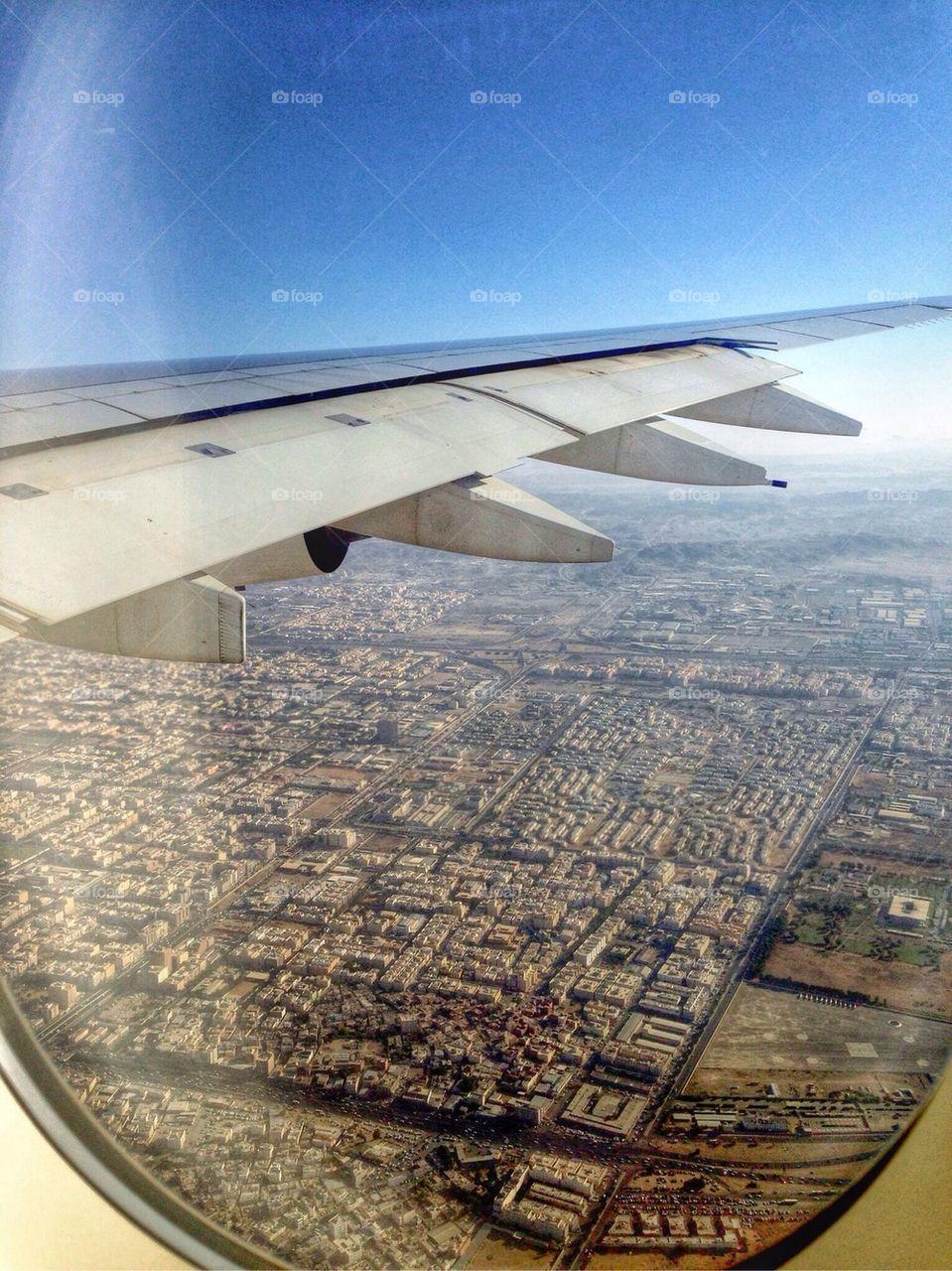 Landing at Jeddah airport