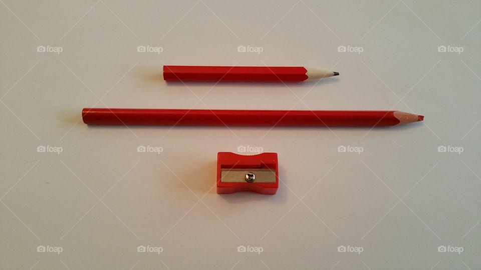 Pencil. Red pencil