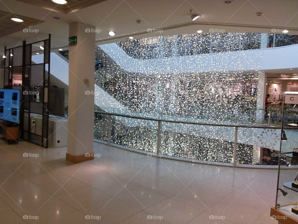 Peter Jones department store at Christmas Sloane square Chelsea Kings road London