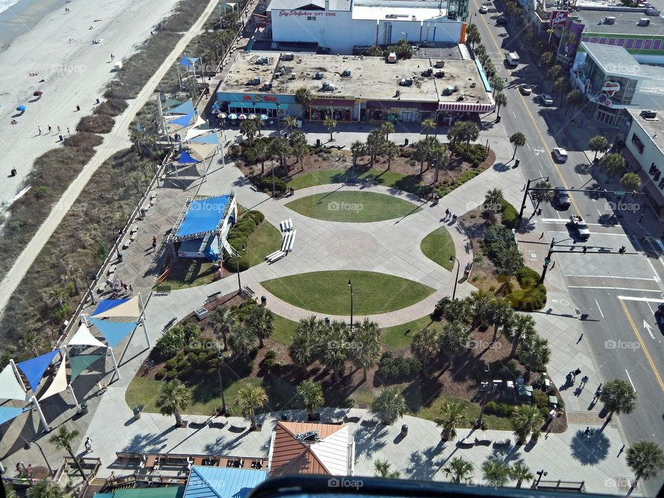 Myrtle Beach SC. An Ariel View of SC myrtle Beach taken while I was riding in the Ferris Wheel in Myrtle Beach SC. scene