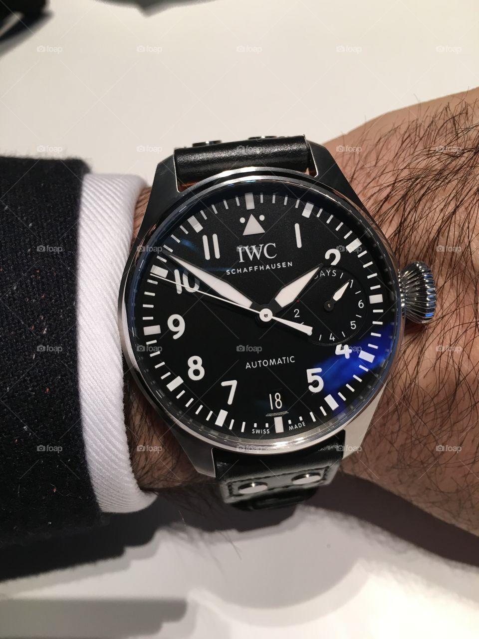 IWC Big Pilot watch on wrist