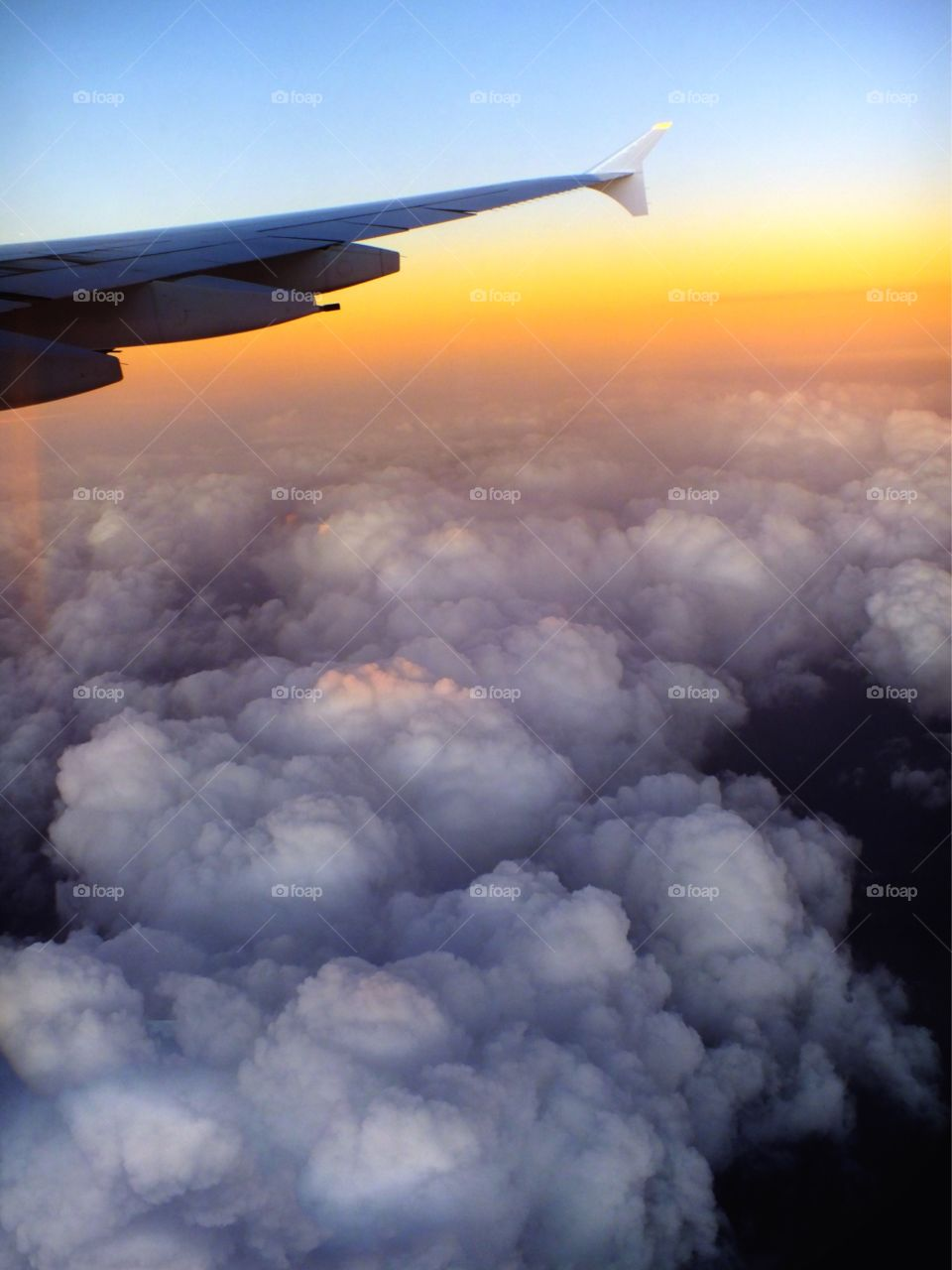 Views out the airplane window