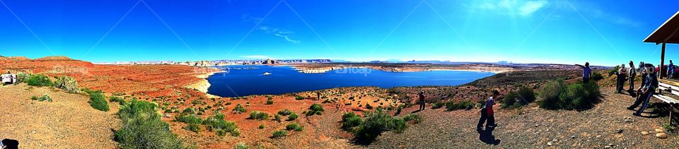 Lake Powell . Marina and resort off 89A