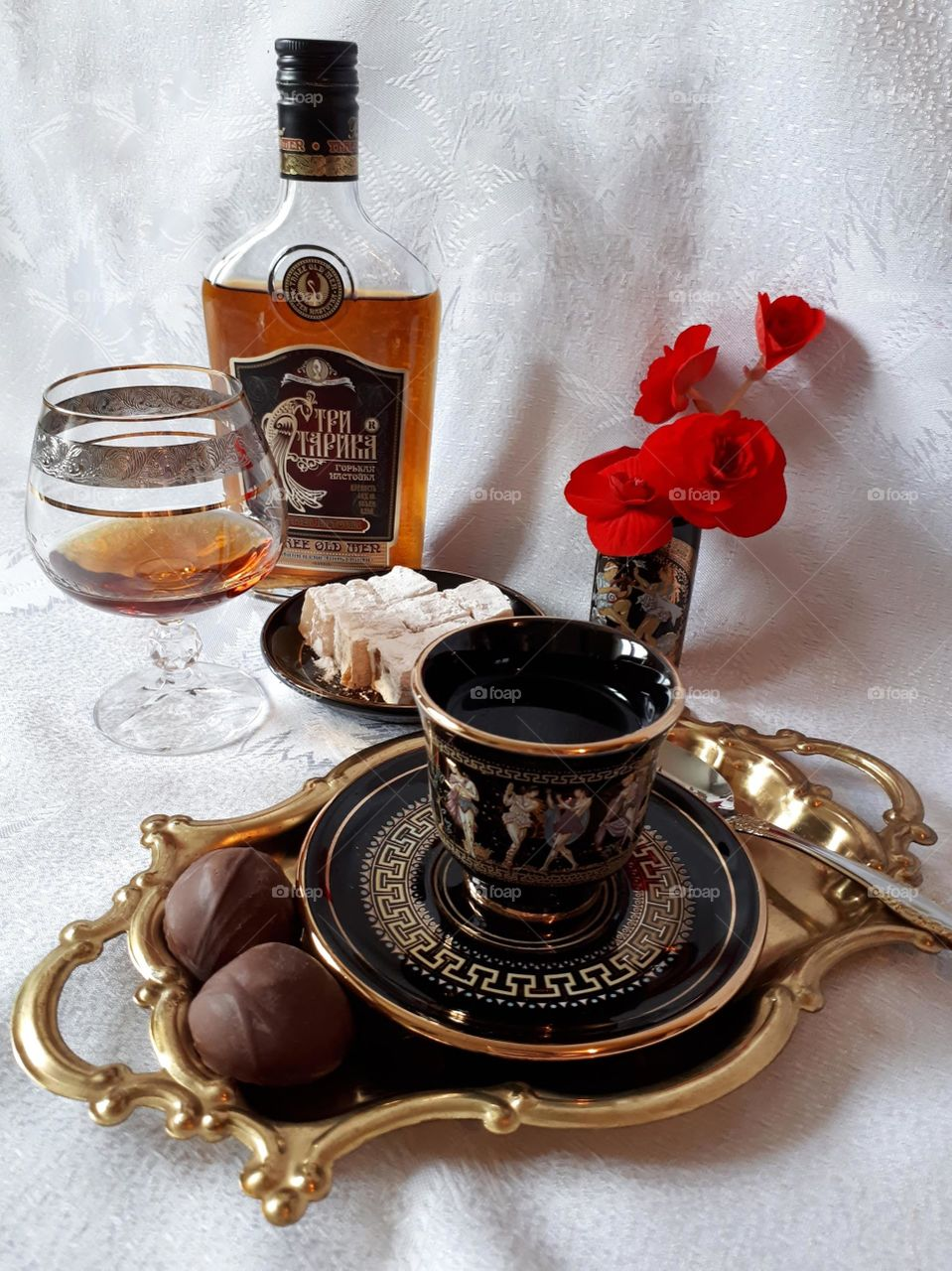 Coffee with cognac