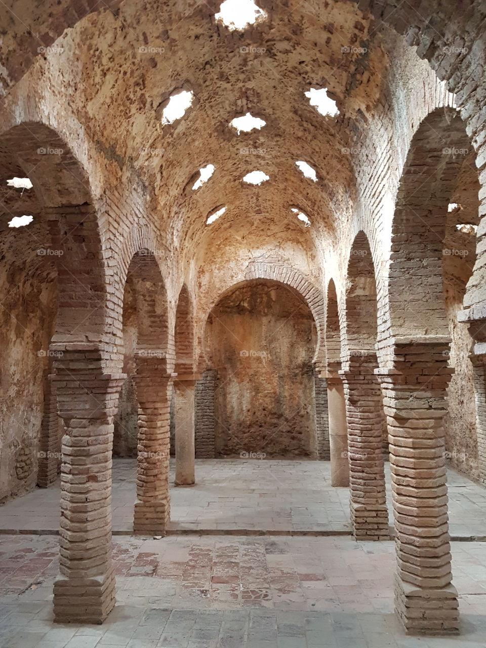 Ancient Arabic baths in Spain