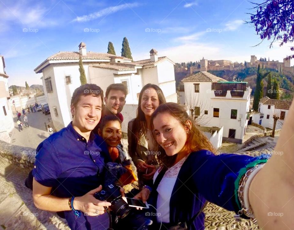 Multinational tourists in southern Spain