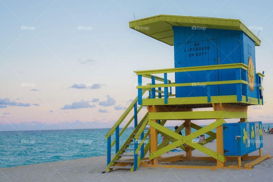 Colorful Lifeguard House