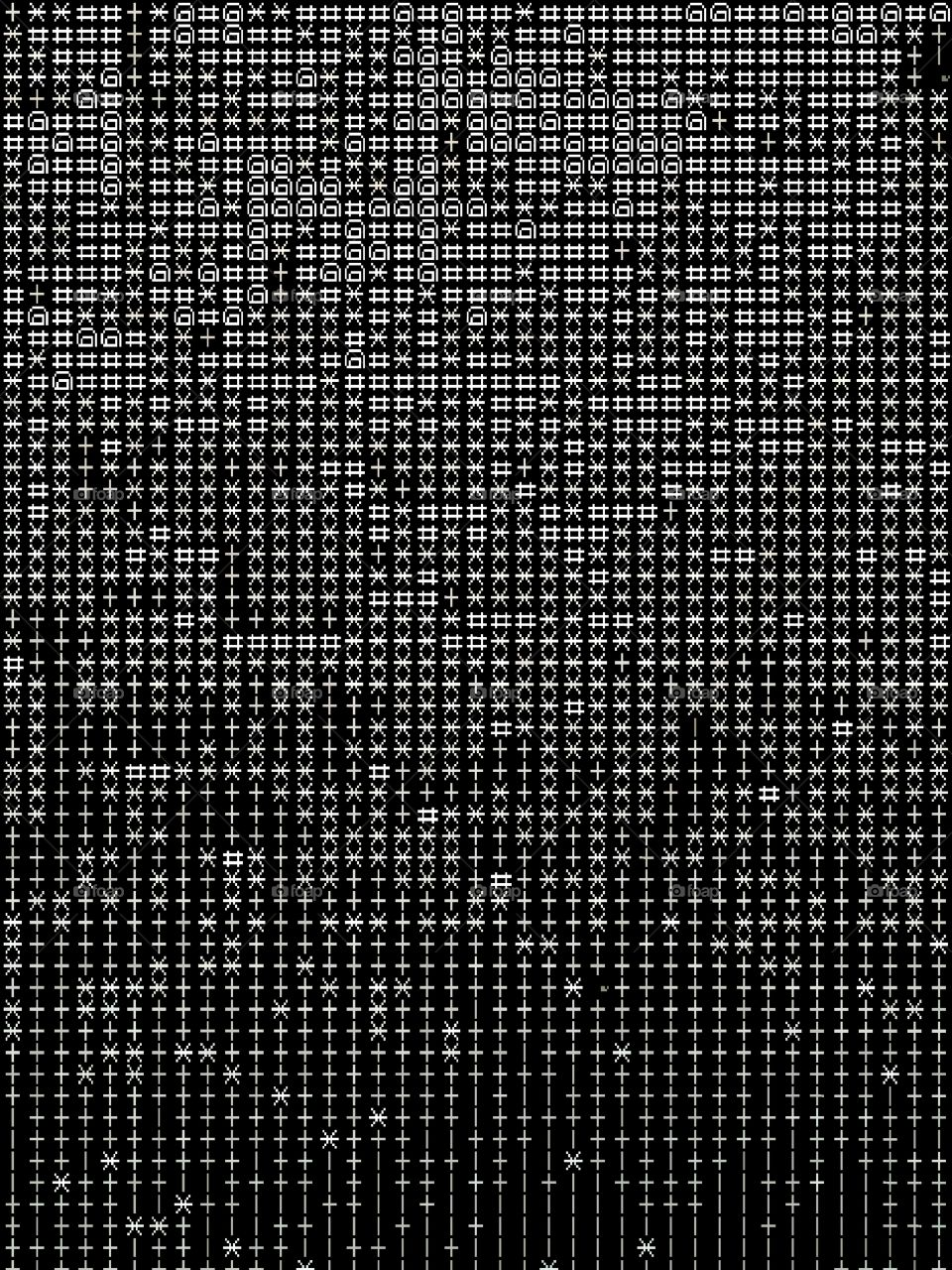 8bit text abstraction