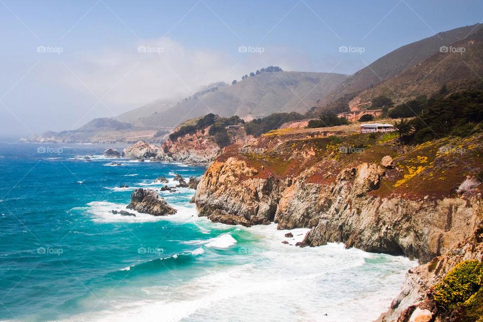 Beautiful coast in California