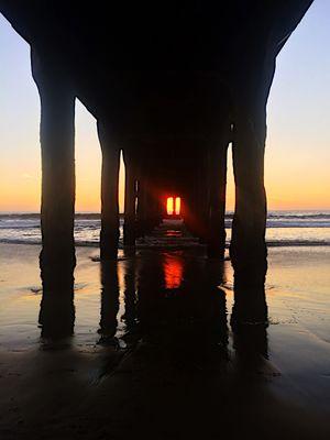 Pier Pressure at Sunset!  Manhattan Beach, CA