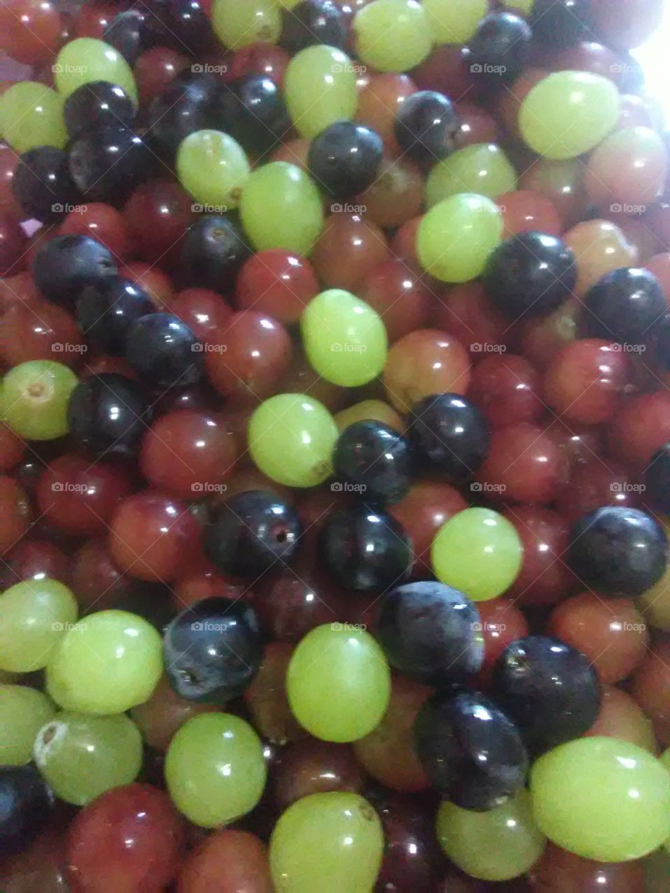 a beautiful vairity of purple and white grapes so freaking fresh and delicious 👌😍