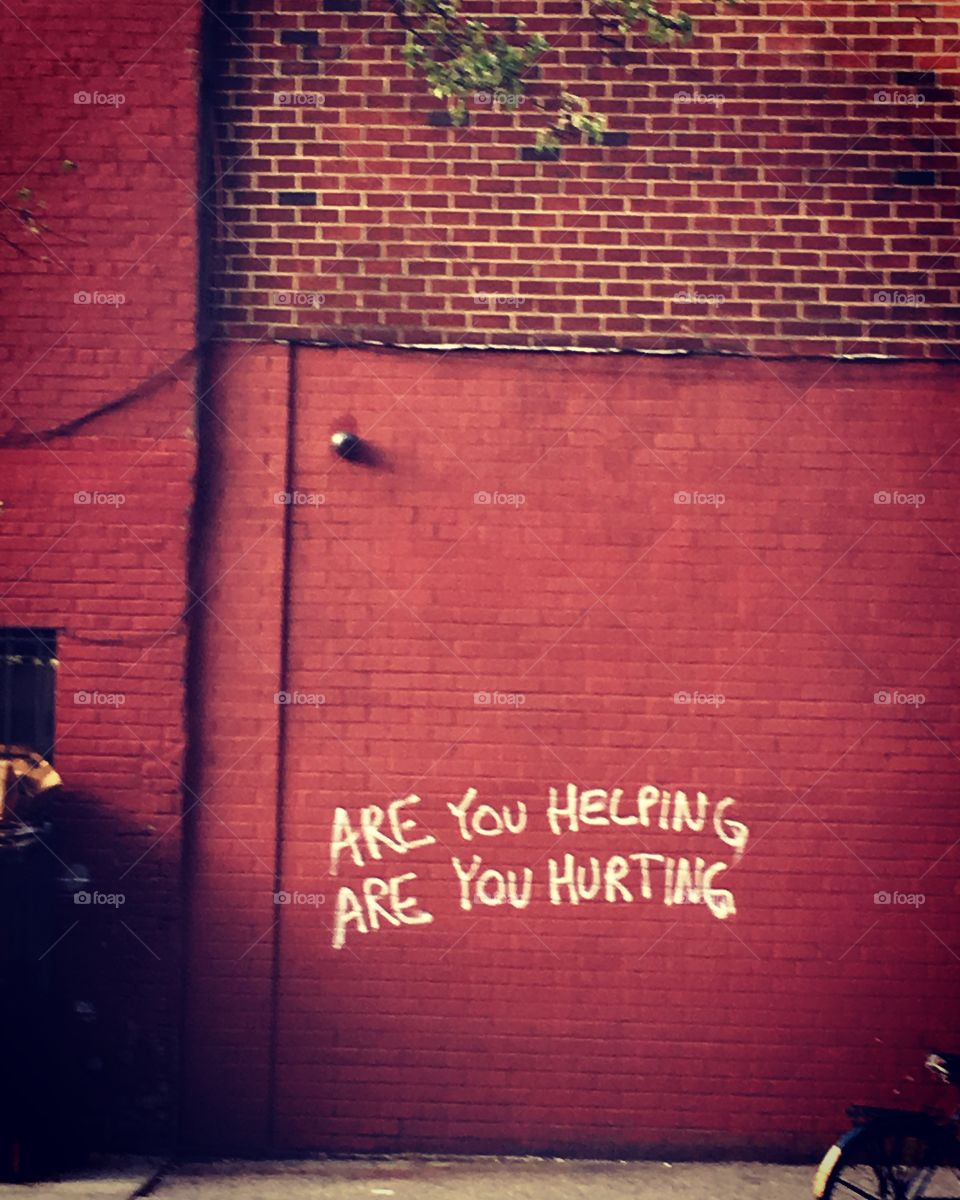 New York Street Art - Are You Helping? Are You Hurting? - Manhattan