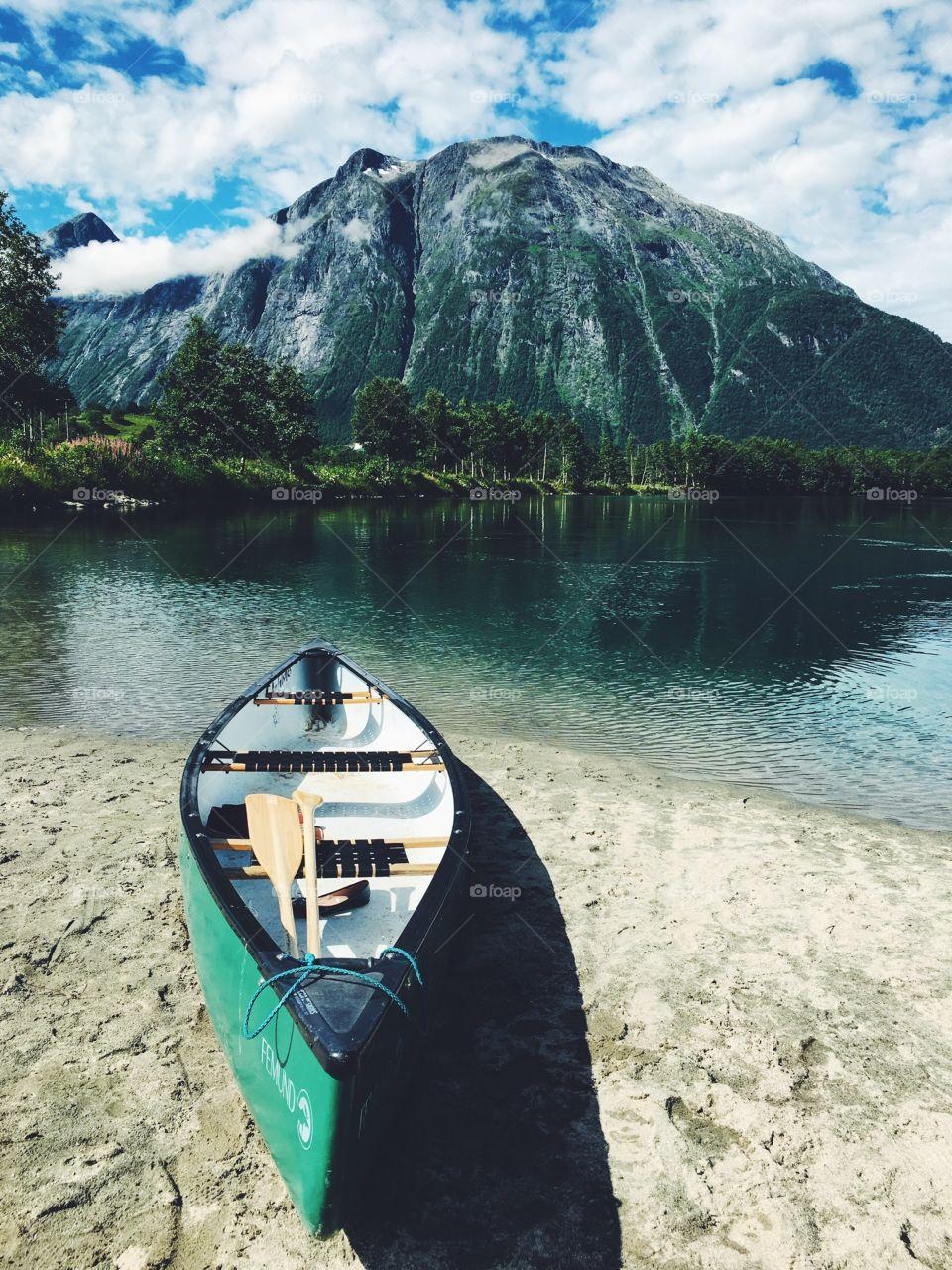Boat at the riverbank