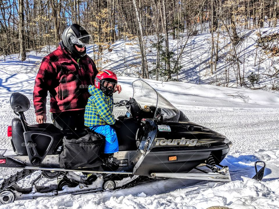 snowmobiling with Dad