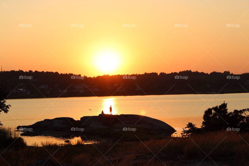 Sunset, golden hour