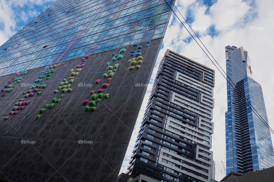 Modern buildings in Southbank, Melbourne, Australia