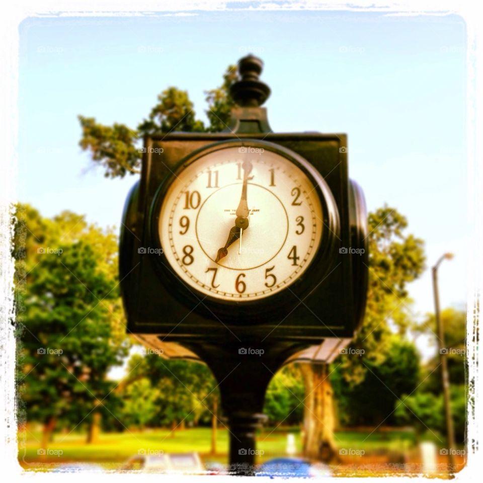 His stork clock in downtown Athens Georgia