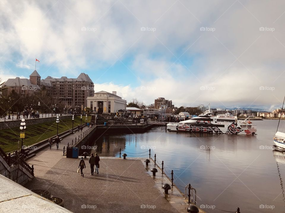 Beautiful Vibrant Victoria Harbour Downtown