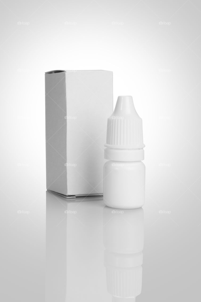 Eye drop mockup isolated on white background
