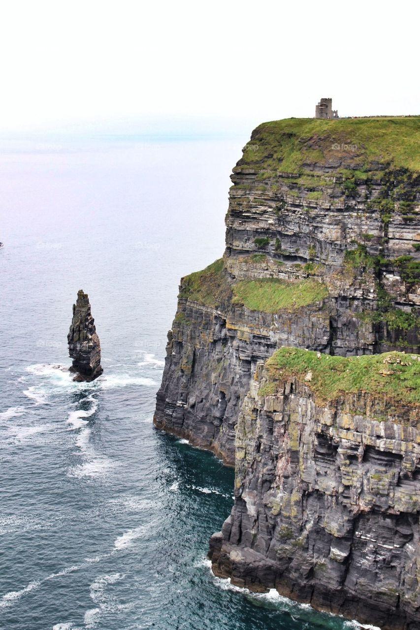 Cliffs of Moher at Atlantic ocean