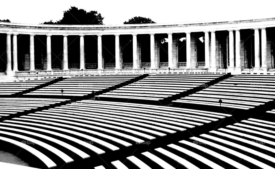Washington DC outdoor arena Arlington memorial amphitheater