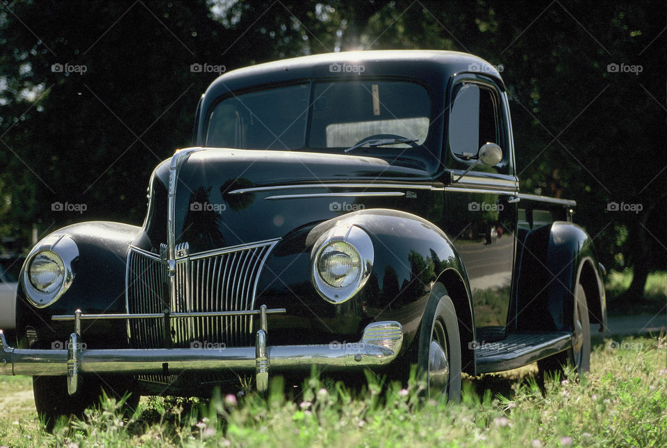 Old 1940 Ford Pickup Truck. Neat looking old pickup truck roadside