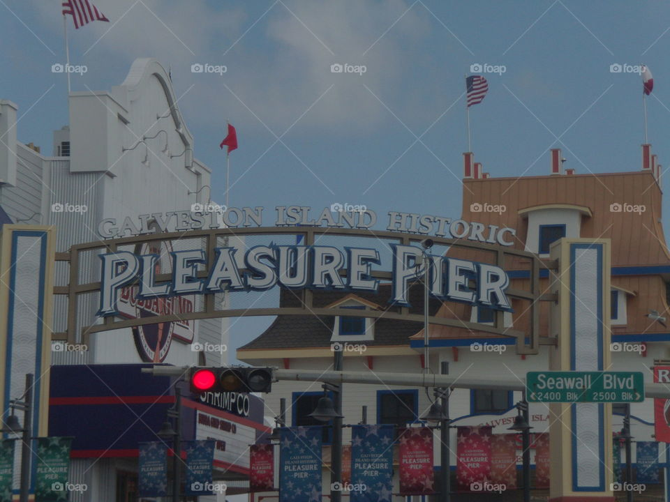Galveston Island Historic Pleasure Pier on Seawall Blvd